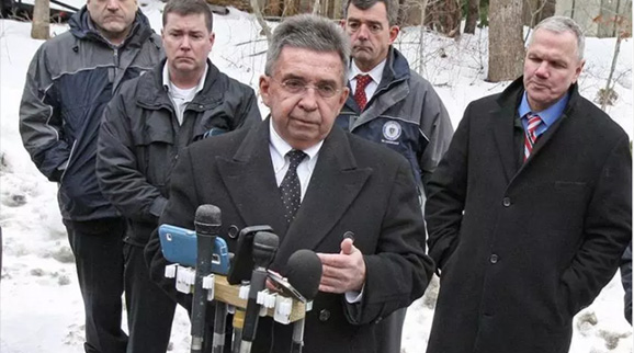 Cape and Island DA Michael O'Keefe addressed the media in 2015.